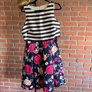 Moulinette Sœurs striped floral dress
